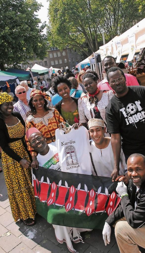 Der deutsch-ostafrikanische Freundeskreis setzte einen besonderen Akzent beim Frühlingsfest der Kulturen auf dem Freithof.