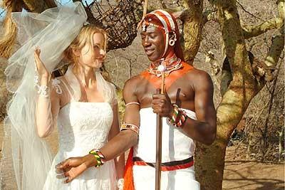 Maasai with a white bride