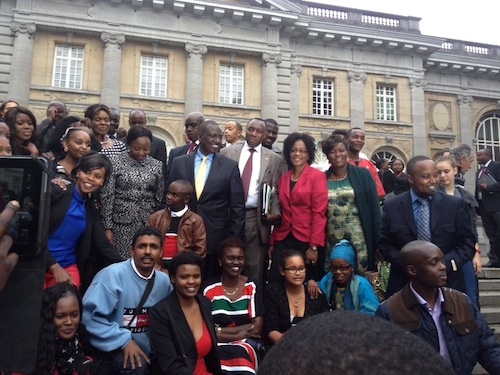 Kenyans from Germany posing with the Deputy President and his wife Rachel