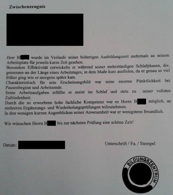 ... German Honesty Meets a Lazy Employee = Worst Reference Letter EVER