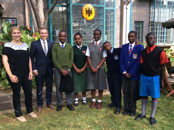 Kenyan Students for the PAD summer school 2014 at the German Embassy Nairobi