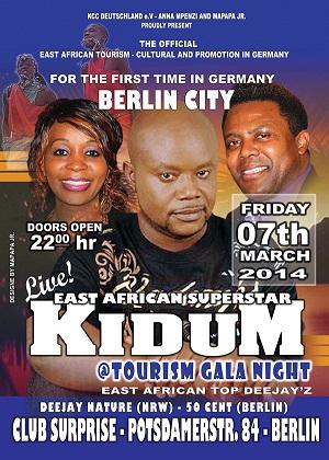 Kidum in Berlin event poster