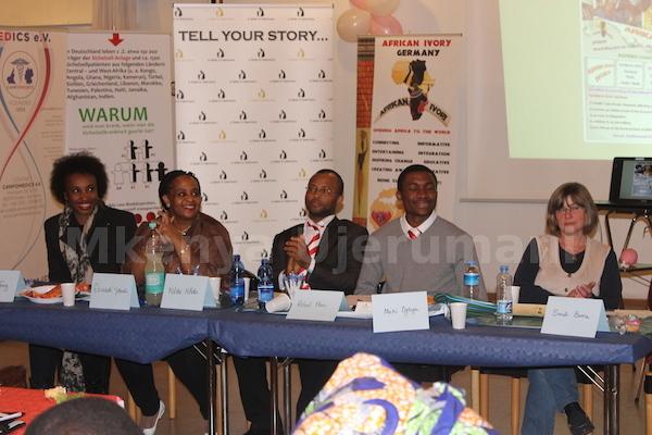 Theresa Atte Franz, Elisabeth Yeboah, Roland Oben, Mecki Ogburu