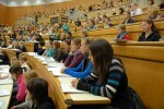 lecture hall hörsaal students university class