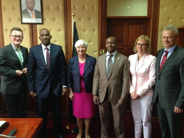 Dep Leader of Majority in GER Bundestag Hasselfeldt and colleagues meeting with Hon Aden Duale and Ndungu Gethenji