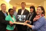 Uwe Gommer, Catherine und Dr. Klaus Flohr, Dr. Guido Hafer, Manuela Junker und Meike Mellmann