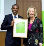 Johanna Wanka  and Kennedy Mbeva