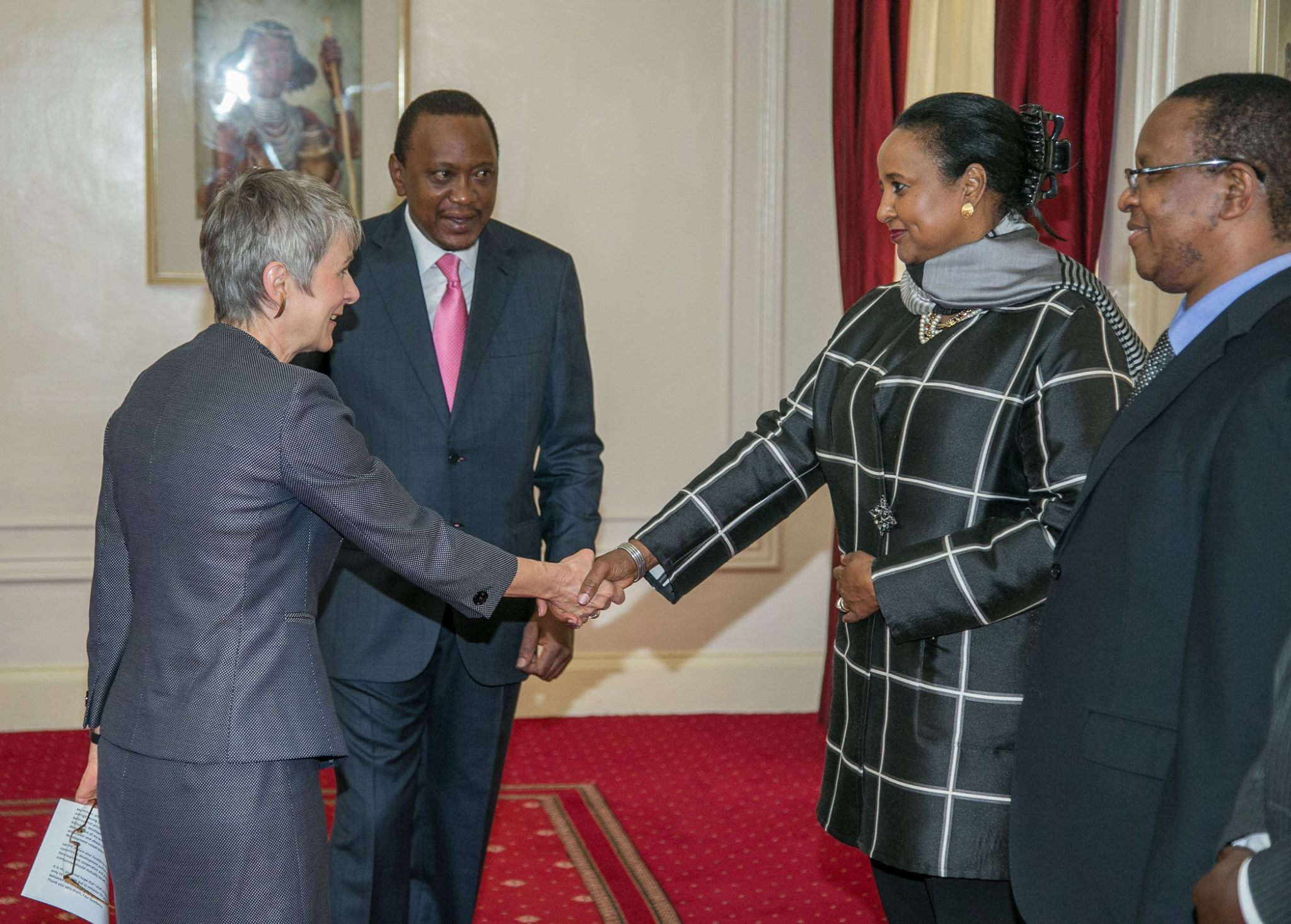 Uhuru Kenyatta, Jutta Frasch, Amina Mohammed, Karanja Kibicho