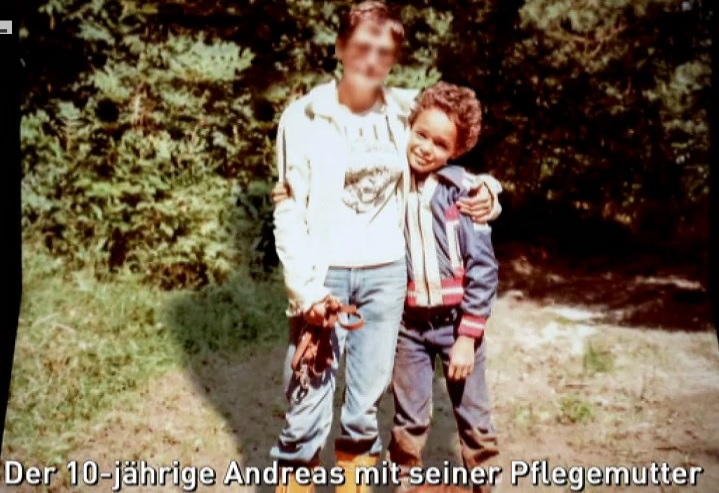 Andreas and his Foster mother
