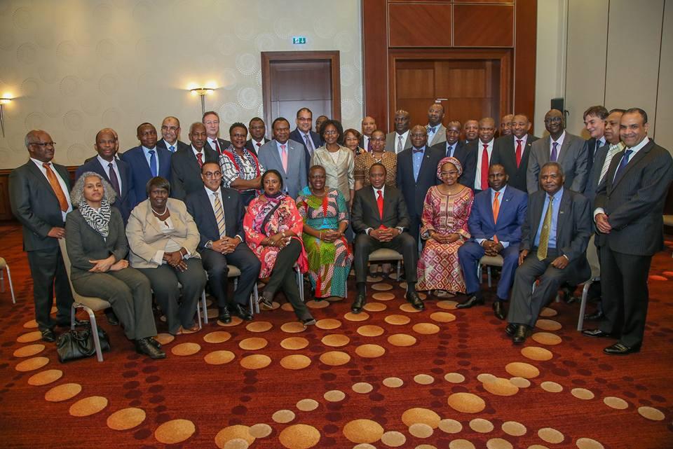 Amina Mohammed, Najib Balala, Uhuru Kenyatta, Joseph Magutt