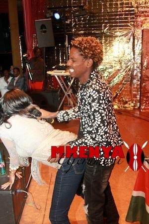 Eric Omondi With a Fan at his show in Stuttgart. Photo Credits: Peter Schwabe
