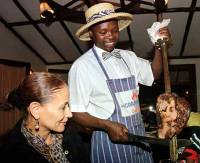 Waiter at the Carnivore Nairobi