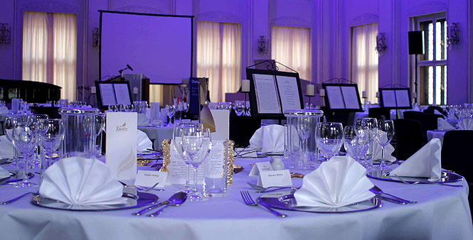 elegant dinner setting event
