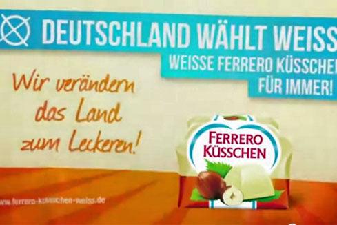 Ferrero Deutschland wählt weiss