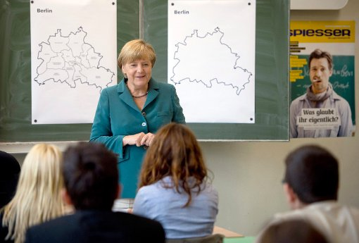 Merkel as a Substitute teacher