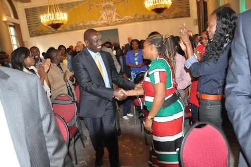 Mary Njoki de Caro with William Samoei Ruto