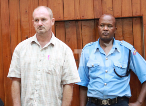 Michael Ribcke in Mombasa for murder of his wife Esther Igoki