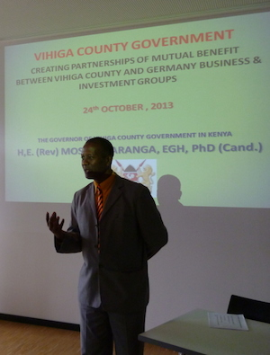 Vihiga County Governor in Germany