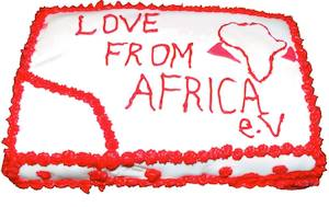 Love from Africa cake