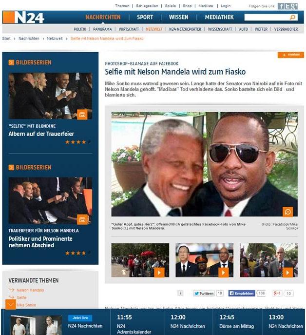 Mike Sonko Nelson Mandela