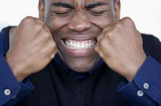 black man angry