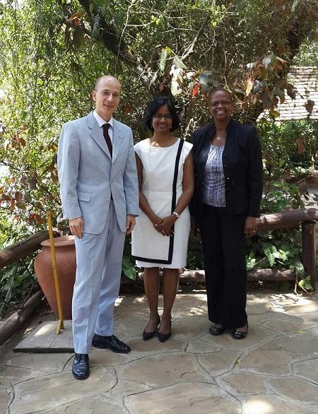 Ambassador Peschke, Radha Muthia, Wanjira Maathai