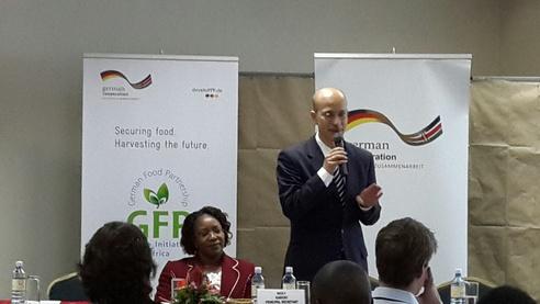 Ambassador Andrea Peschke launching Potato Initiative
