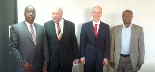 Cabinet Secretary Ministry of Information Communications and Technology ICT Kenya, Fred Okeng'o Matiang'i, Günter Nooke, Ambassador Andreas Peschke, Principle Secretary PS Mr. Joseph Tiampati ole Musuni