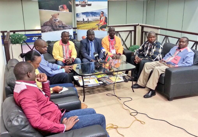County representatives at the press conference ITB Berlin 2014