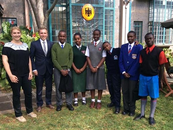 Kenyan Students for the PAD summer school 2014 at the German Embassy Nairobi