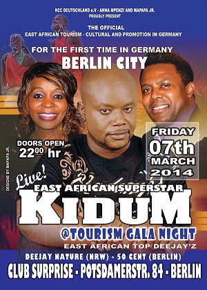 Kidum in Berlin event poster
