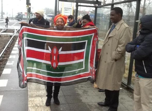 Mombasa Deputy Governor Hazel Katana Flying Kenyan Flag high