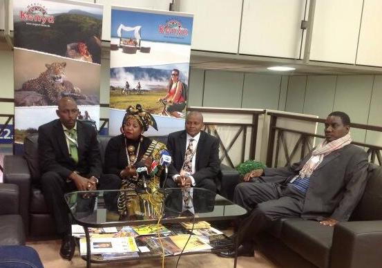 Mombasa Deputy Governor Hazel Katana at the ITB Berlin 2014