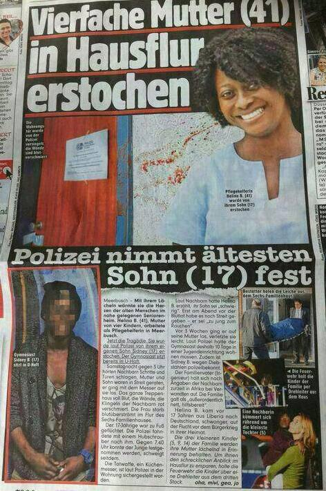 African Ghanaian Woman Killed by her Son in Meerbusch in Düsseldorf