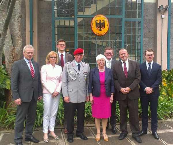 Deputy Ambassador and Military Attaché meet German MPs at the German Embassy in Nairobi