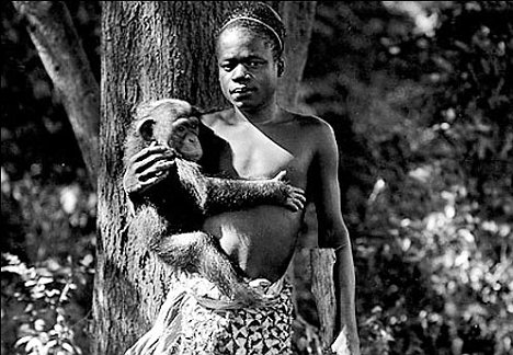 Ota Benga in a Human Zoo in the Bronx 1906