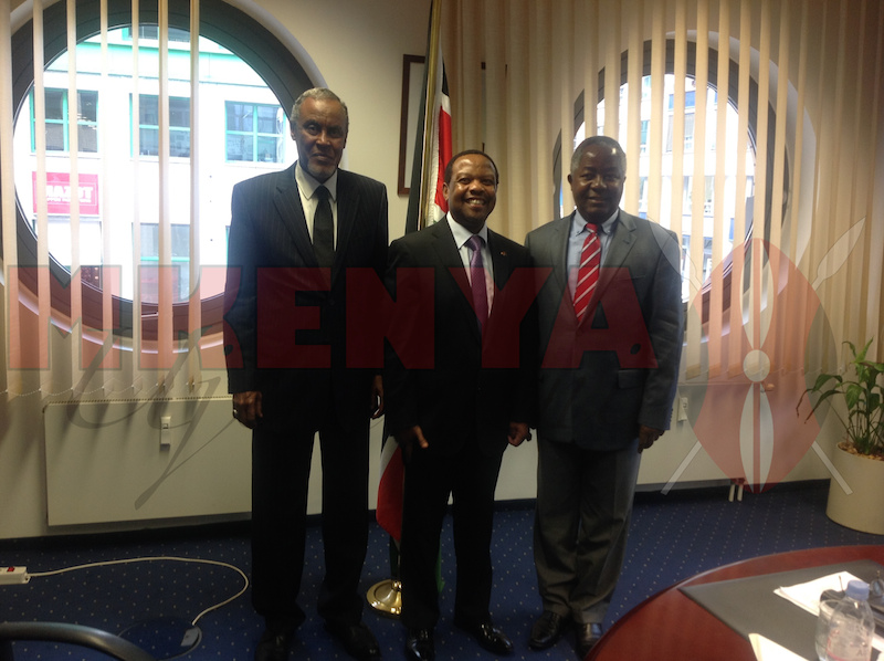 Sen. Yusuf Haji and Sen. kembi Gitura with Amb. Ken Osinde