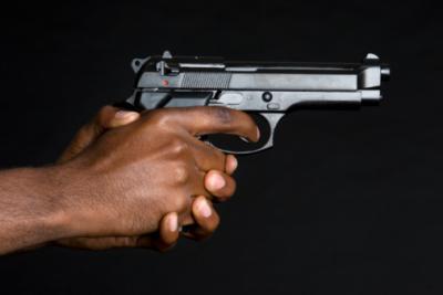 hand gun black attack robber thief