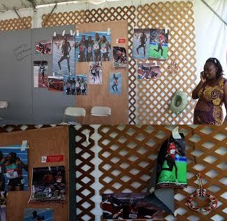 Kenyan stand at the Smithsonian Exhibition