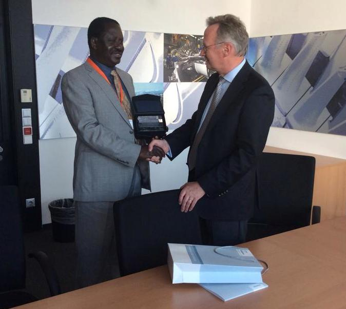 Raila Amolo Odinga at Siemens