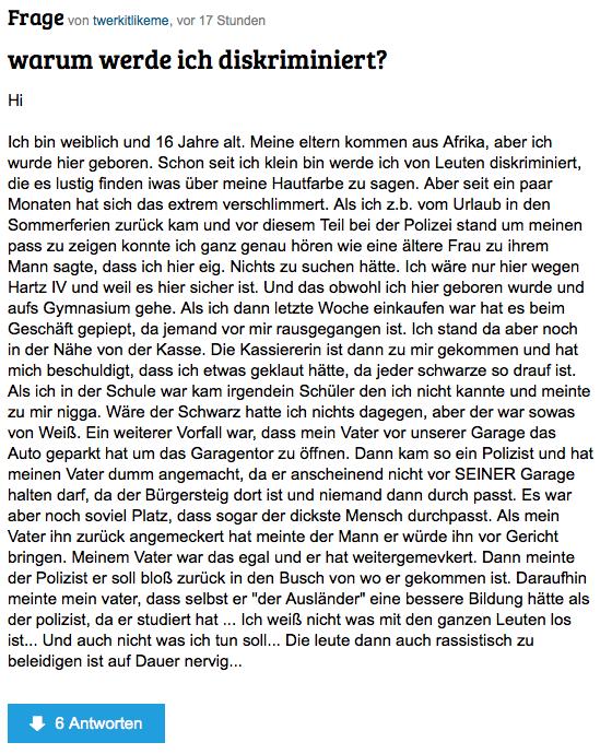 Kenyan teen Discrimination in Germany