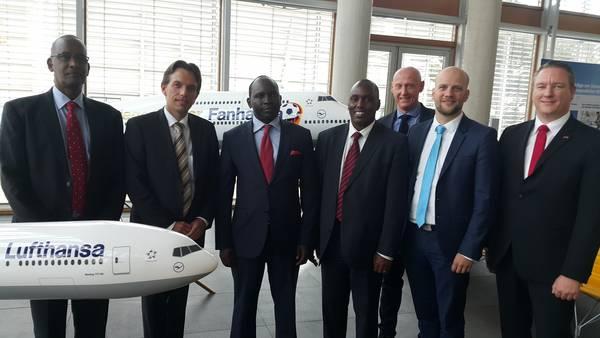 Kenyan Ambassador to Germany, Amb. Magut, the Principal Secretary for Commerce and Tourism Dr. Ibrahim M. Mohamed and the Kenya Tourism Board Managing Director, Mr. Muriithi Ndegwa