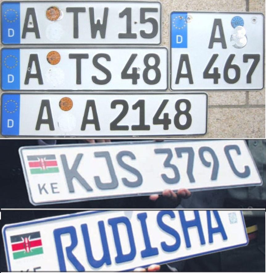Kenyan German Number Plates