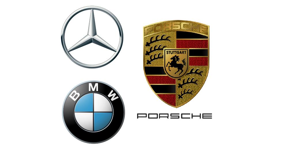 German-car-brands-BMW, Mercedes, Porsche
