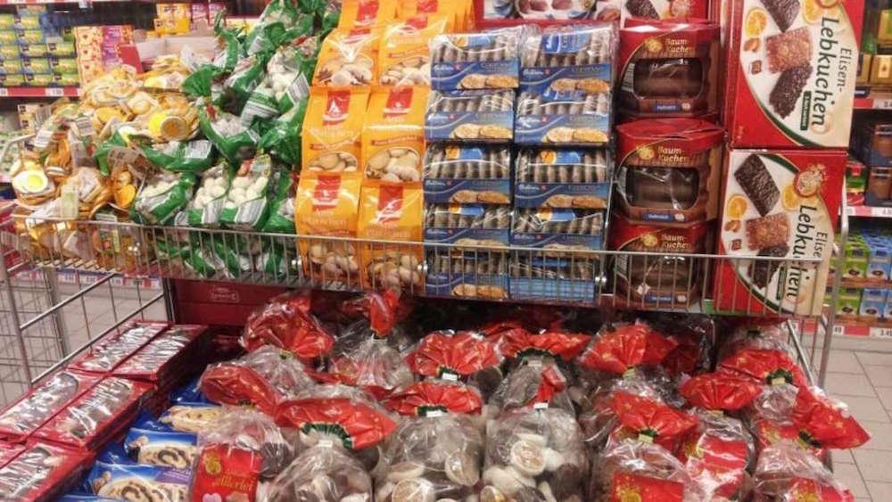 Supermarket Christmas goodies chocolate