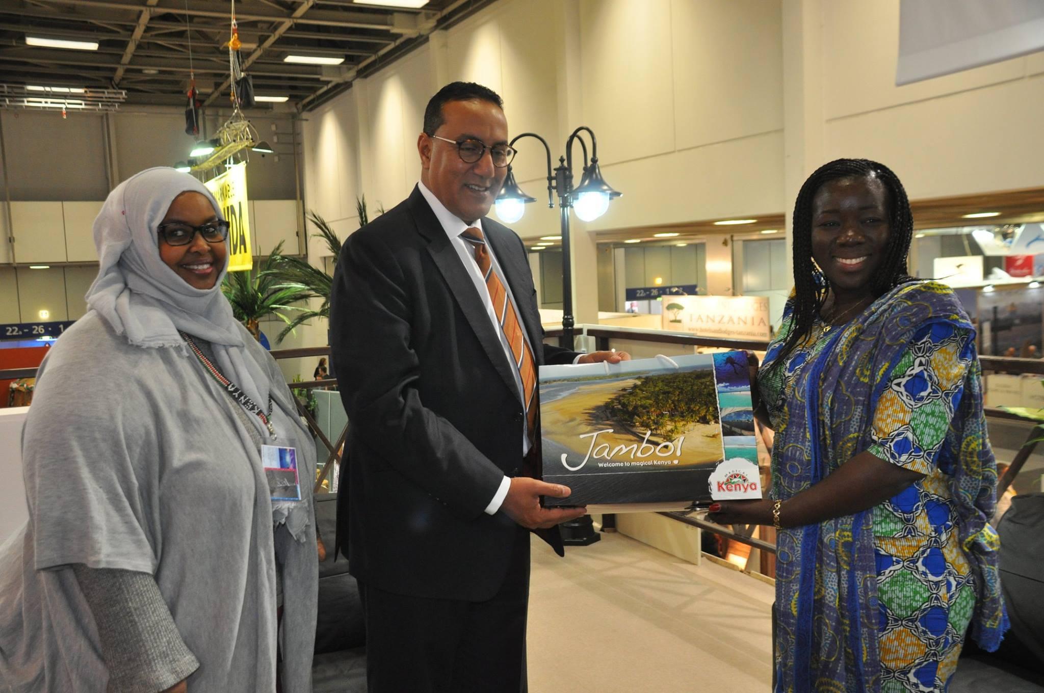 Fatuma Hirsi Mohamed, Najib Balala and Elizabeth Ofosu-Agyare