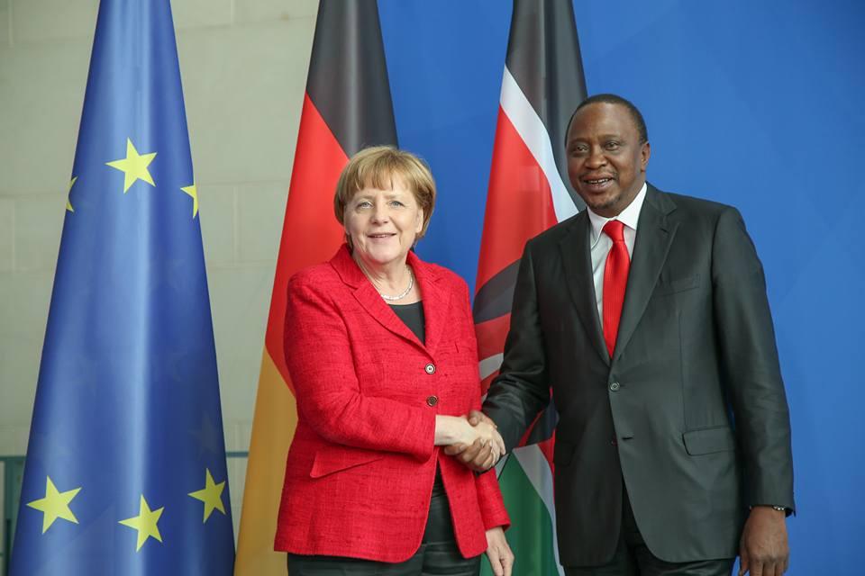 Angela Merkel Uhuru Kenyatta