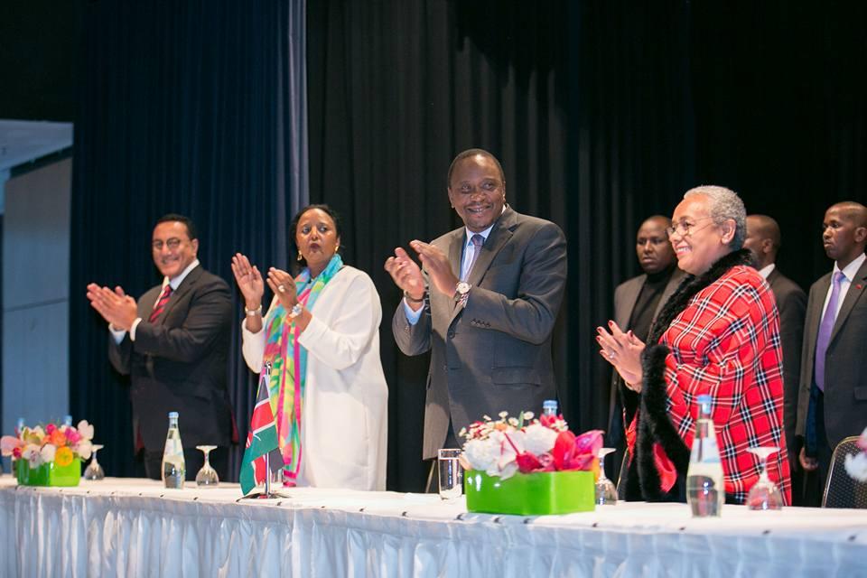 Najib Balala, Amina Mohammed, Uhuru Kenyatta, Margaret Kenyatta