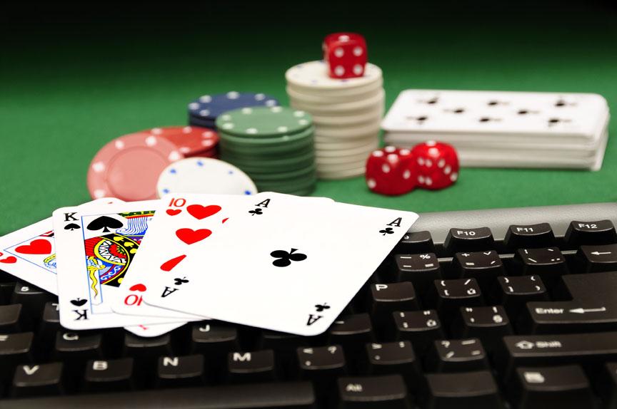 Poker cards chips