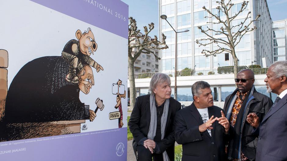 Zulkiflee Anwar Ul-Haque oder Zunar, Godfrey Mwampembwa GADO, Koffi Annan